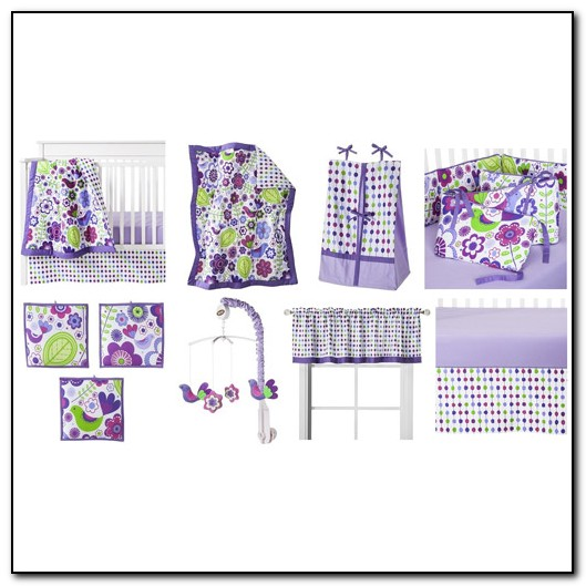 Purple Crib Bedding Walmart