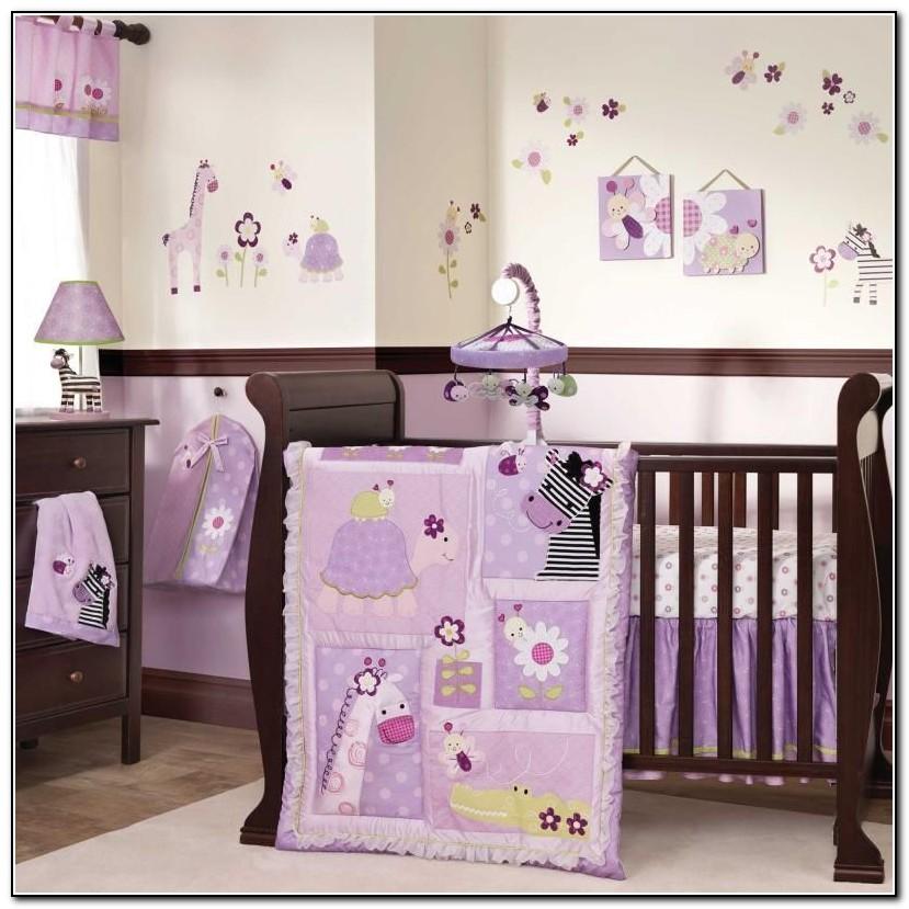 Purple Giraffe Baby Bedding