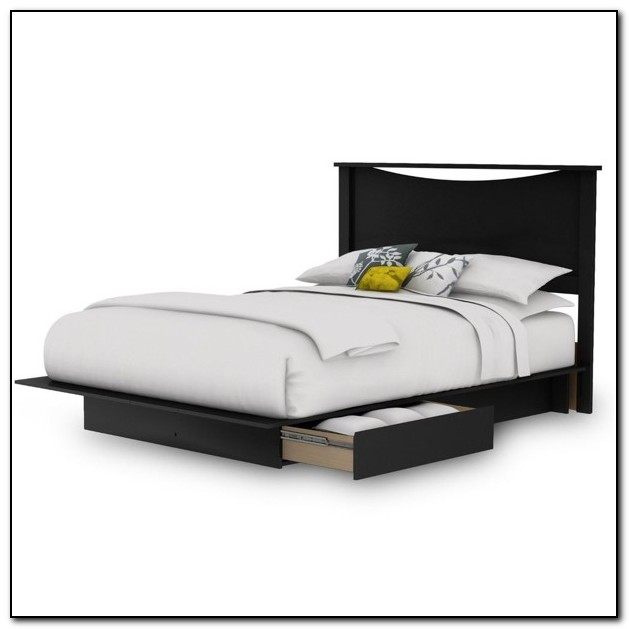 Queen Size Platform Bed With Storage