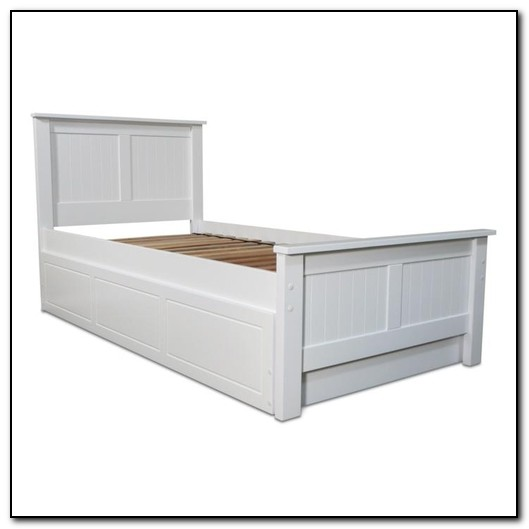 Single White Trundle Bed