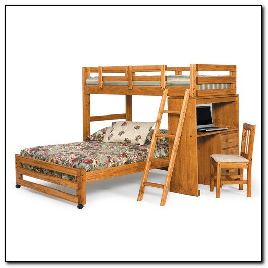 Twin Full Bunk Bed With Desk