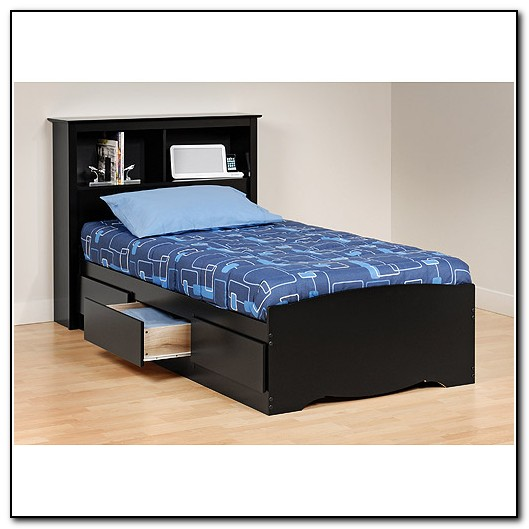 Twin Platform Bed Frame With Storage
