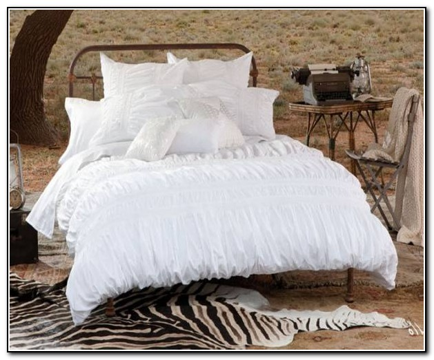 Twin White Ruffle Bedding