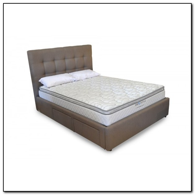 Upholstered Bed Frame With Drawers
