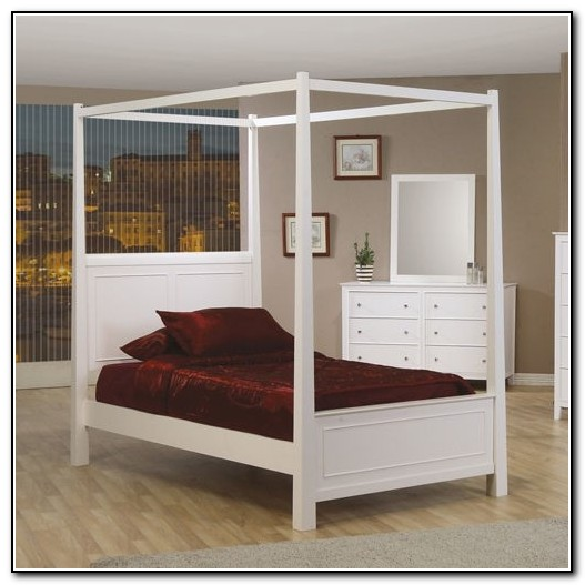 White Canopy Bed Full