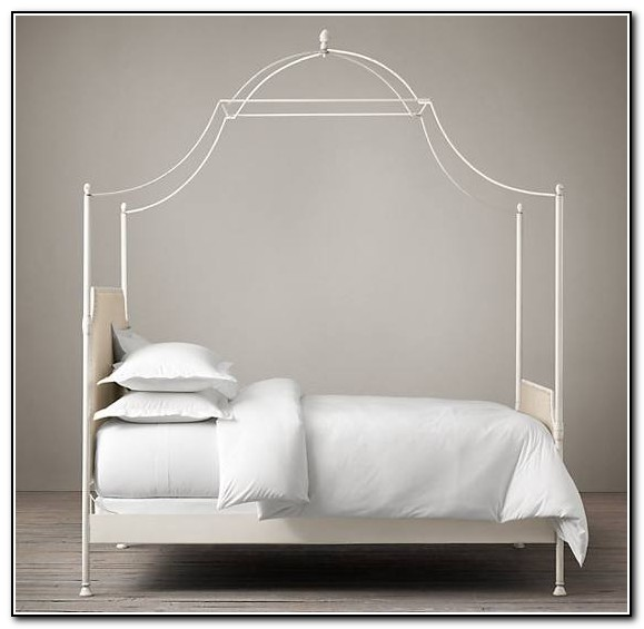 White Canopy Bed King
