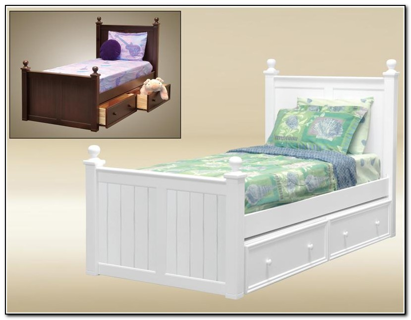 White Girls Twin Bed