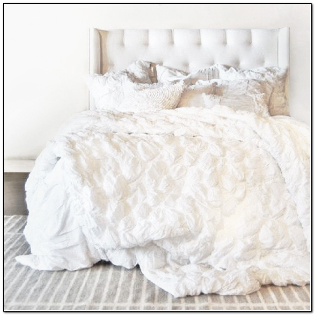 White Ruffle Bedding Set