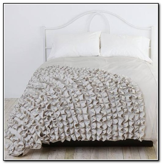 White Ruffle Bedding Urban Outfitters