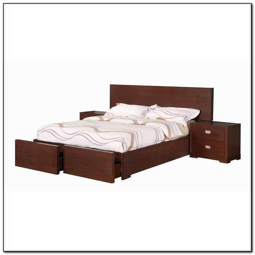 Wood Platform Bed Queen