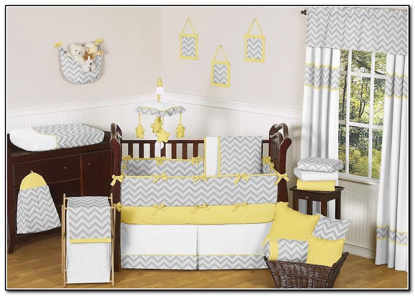 Yellow And Gray Giraffe Baby Bedding