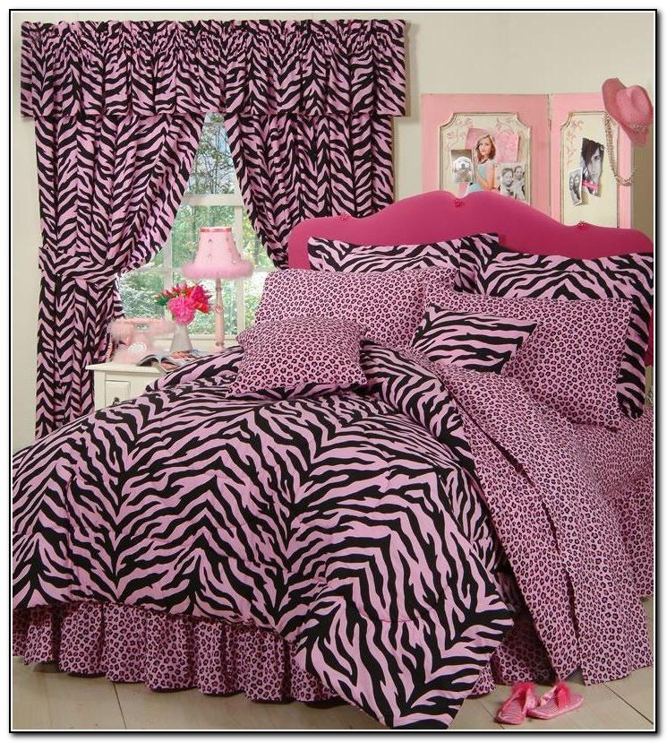 Zebra Pink And Black Bedding