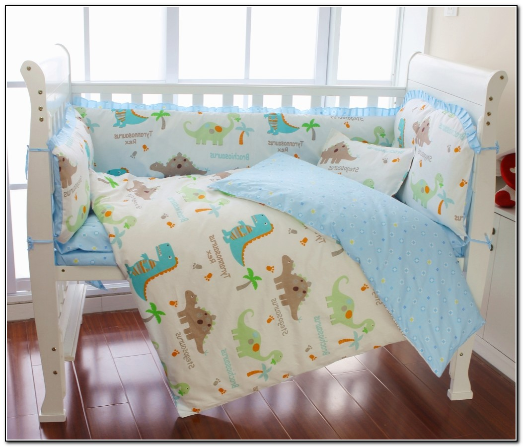 Baby Boy Dinosaur Crib Bedding