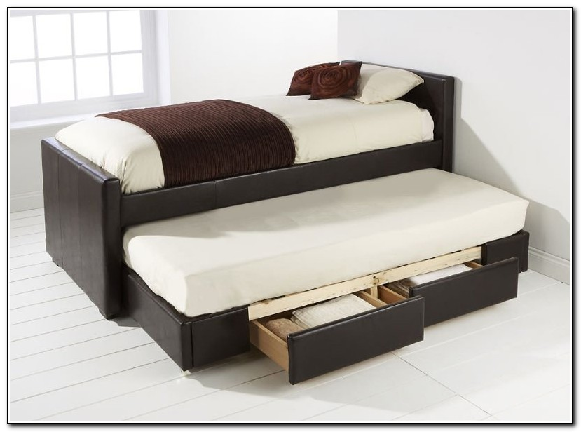 Bed With Trundle And Drawers
