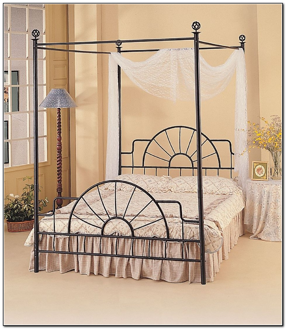Black Canopy Bed Frame Queen