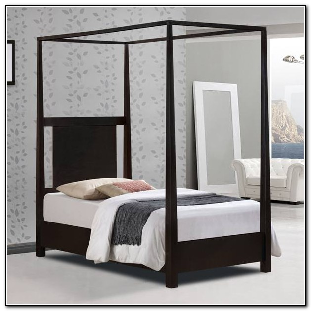 Black Canopy Bed Twin