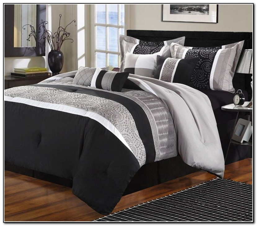 Black Grey Bedding Sets