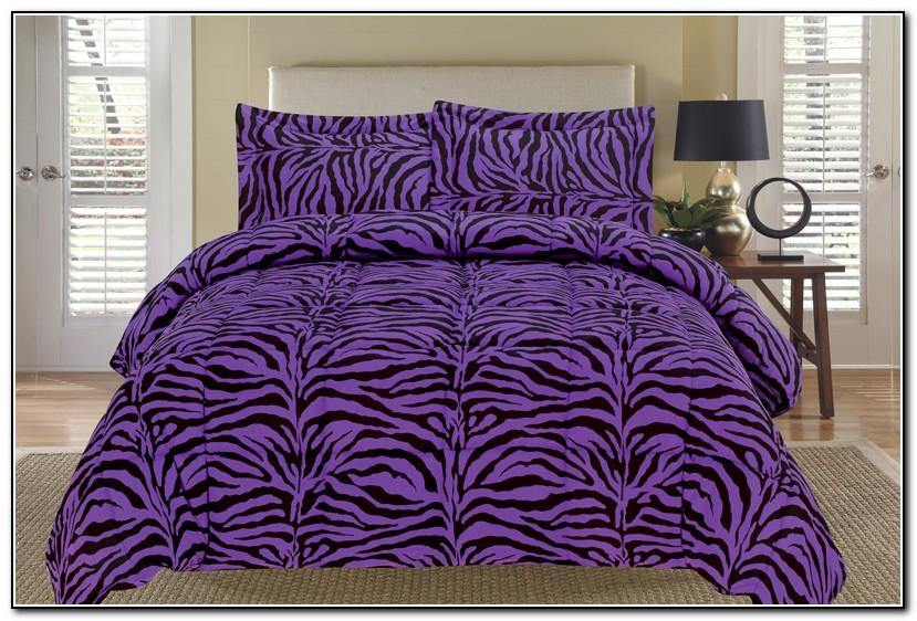 Blue And Purple Zebra Bedding