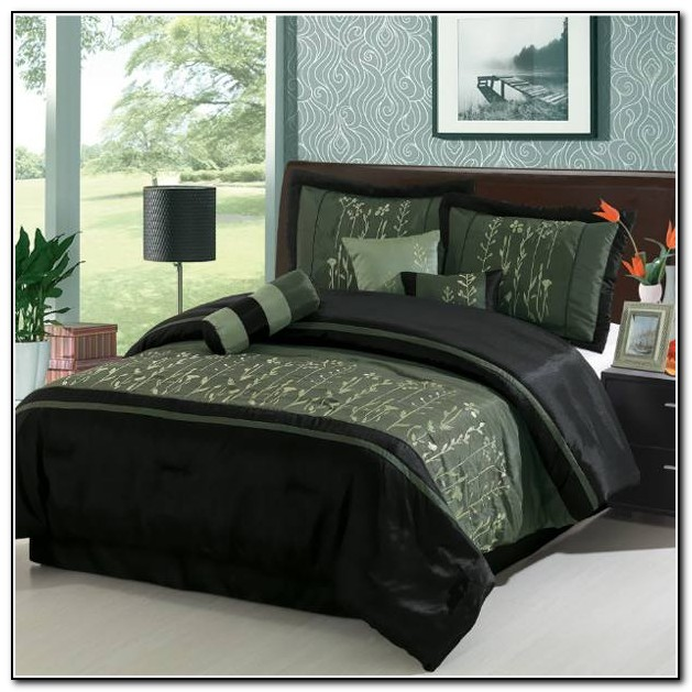 Brown And Mint Green Bedding