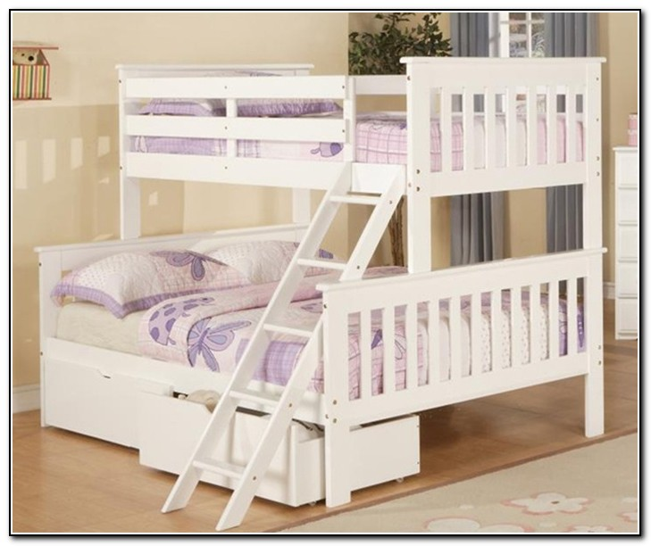 Bunk Bed Twin Over Full White