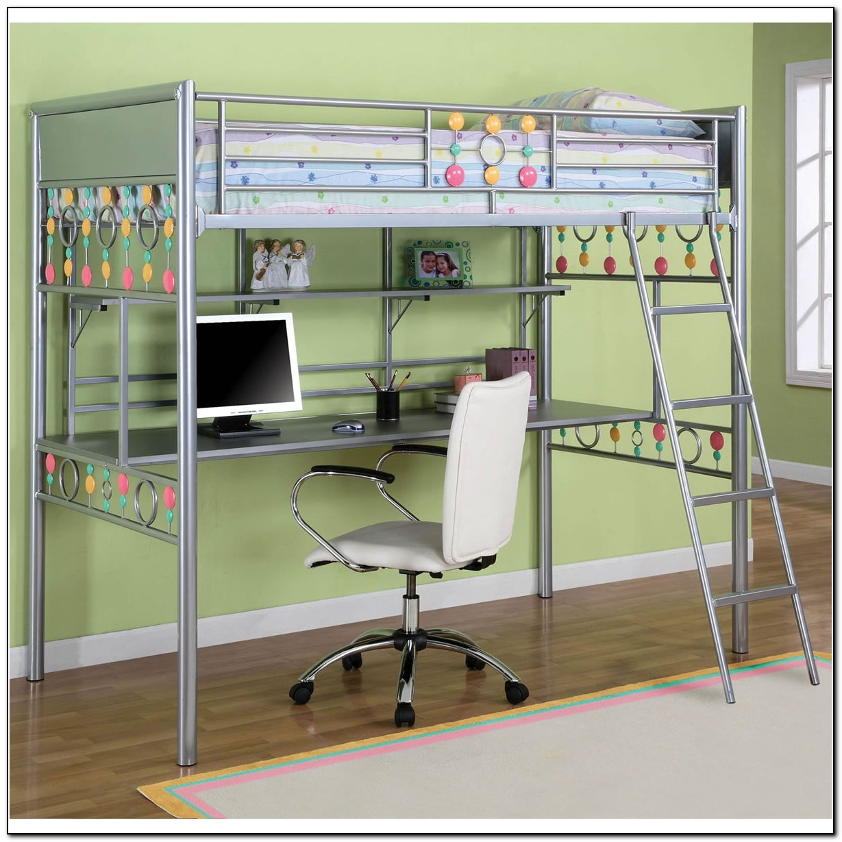 Bunk Bed With Desk Underneath For Girls