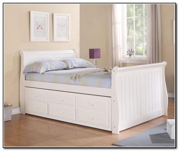 Captains Bed Full White