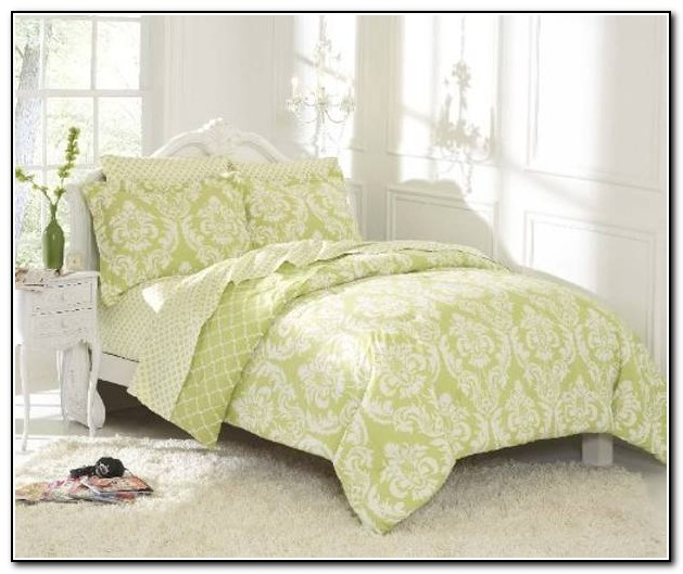 Coral And Mint Green Bedding