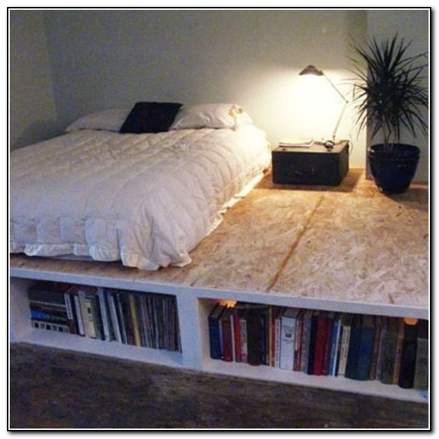 Diy Storage Platform Bed