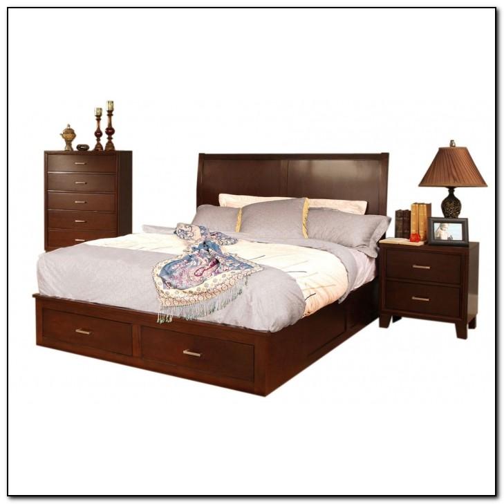 Espresso Platform Bed King