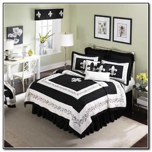 Fleur De Lis Bedding Sets Black And White