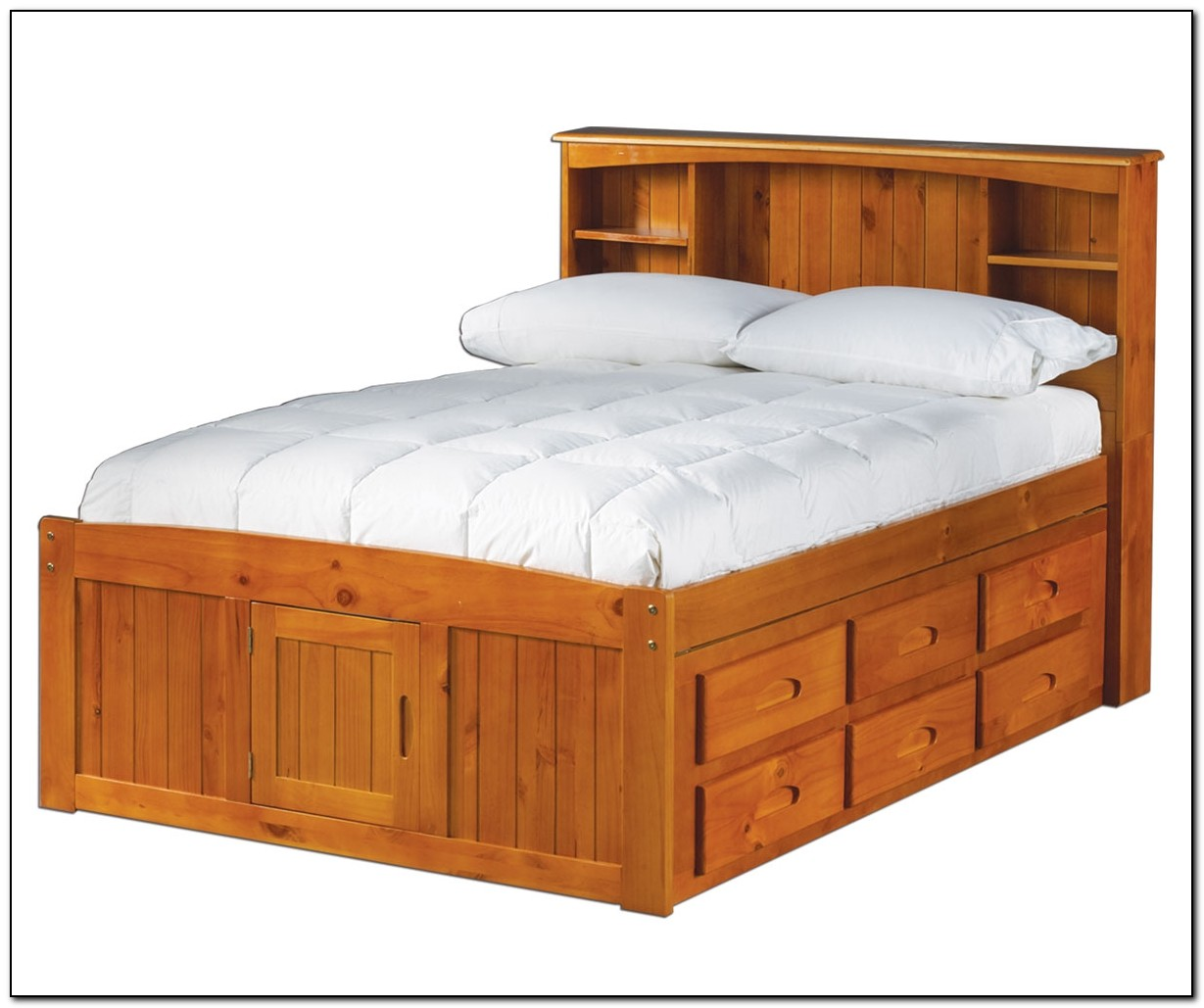 Full Size Captains Bed Frame
