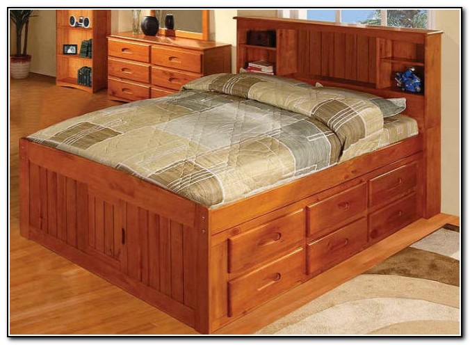 Full Size Captains Bed With 12 Drawers