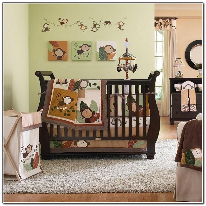 Girl Monkey Crib Bedding Sets