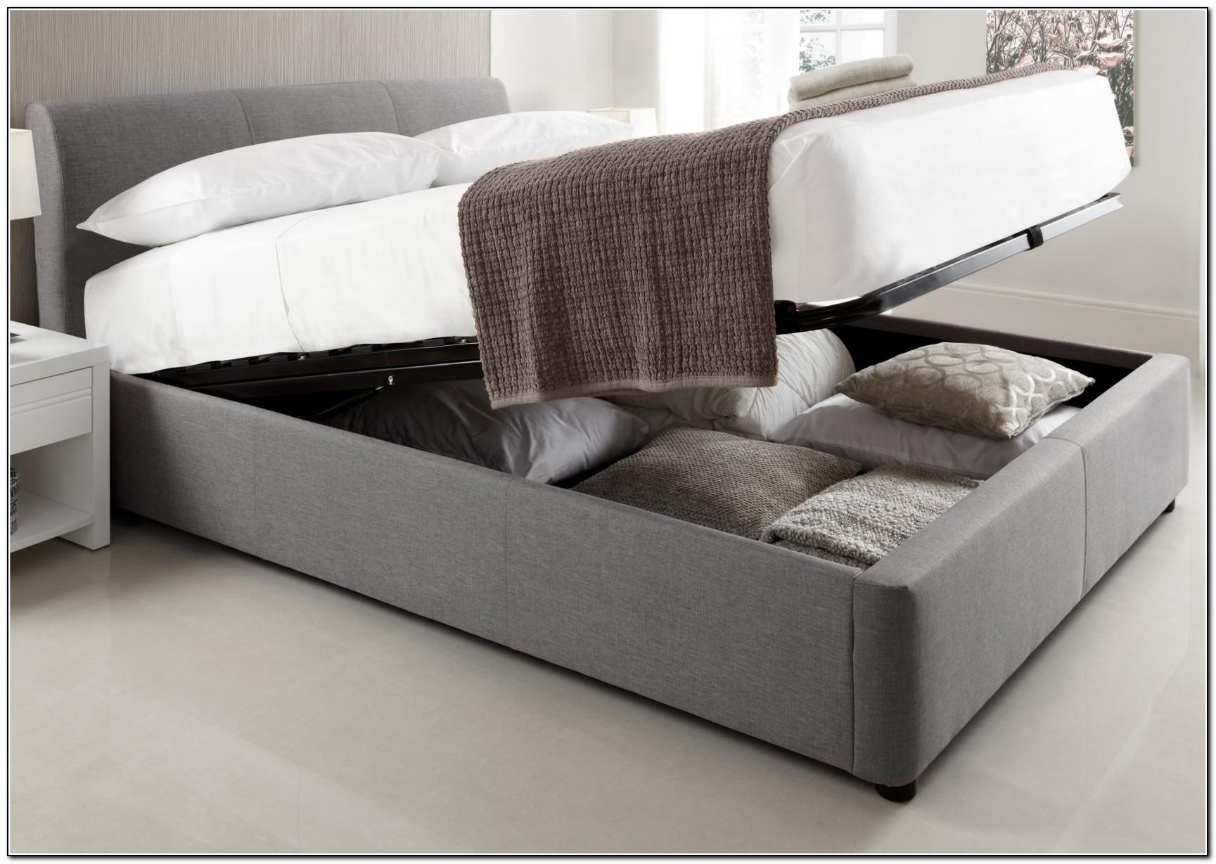 Grey Upholstered King Bed