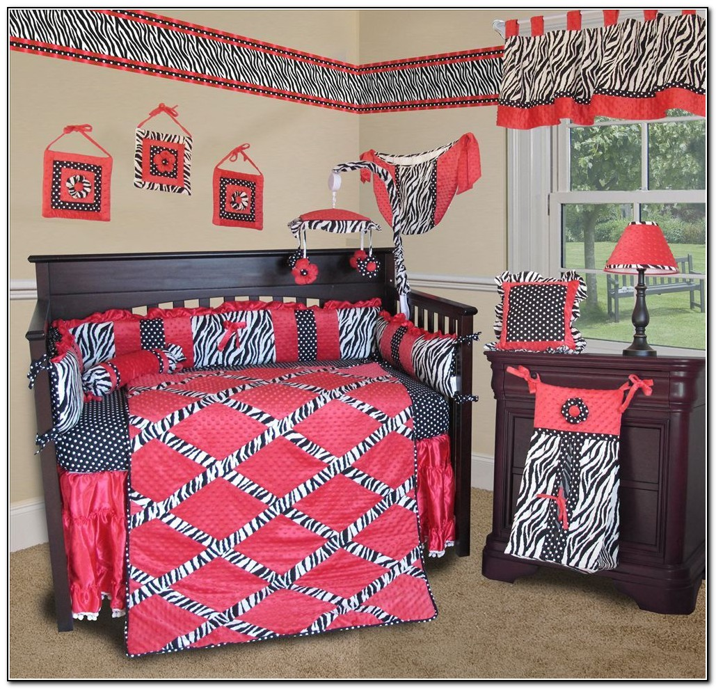 Hot Pink And Zebra Baby Bedding