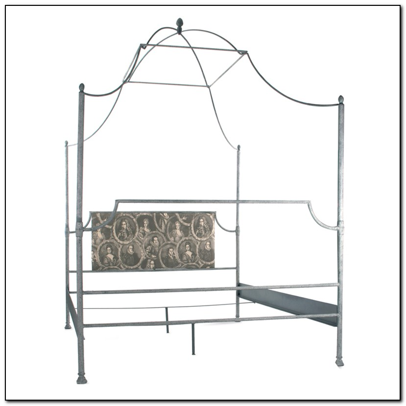 Iron Canopy Bed Frame