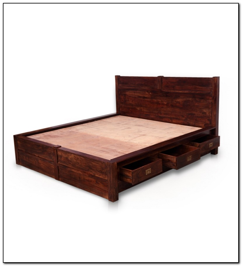 King Size Storage Bed With Drawers