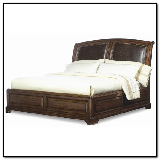 Leather Platform Bed King Size