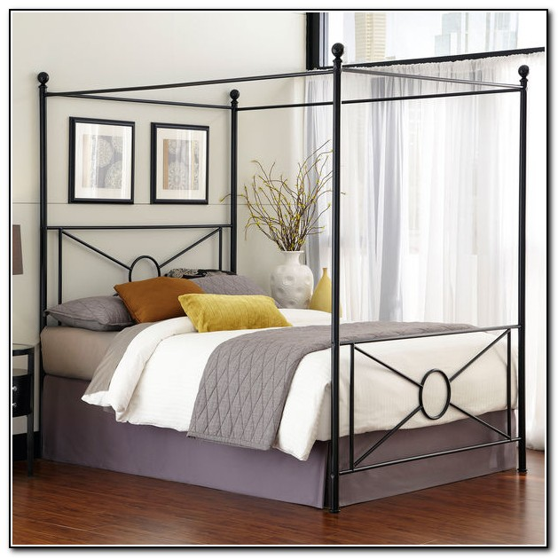 Metal Canopy Bed Frame Queen