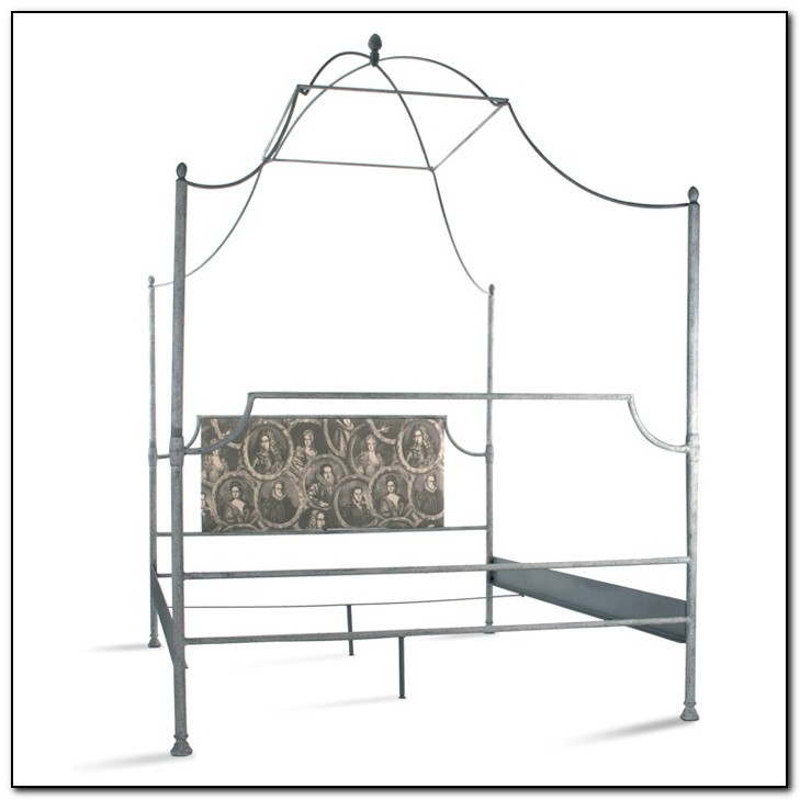 Metal Canopy Bed Queen