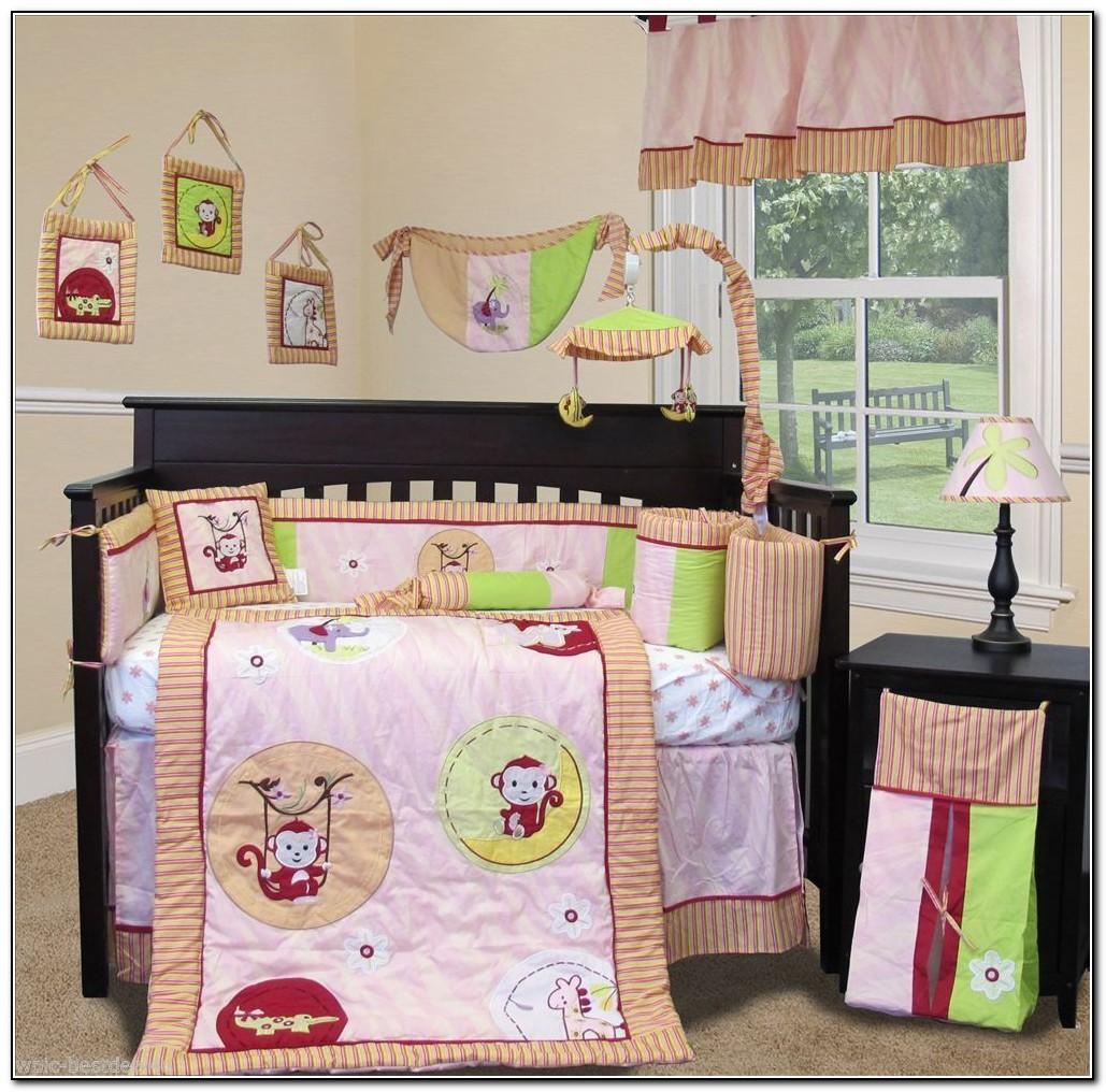 Monkey Crib Bedding For Girl Babies