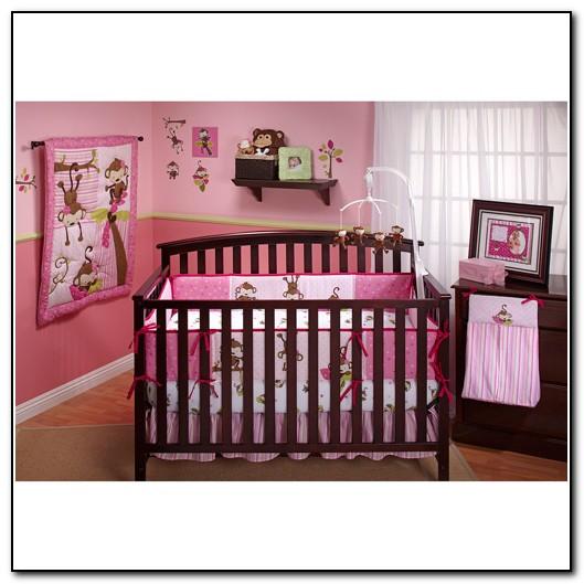 Monkey Crib Bedding Girl