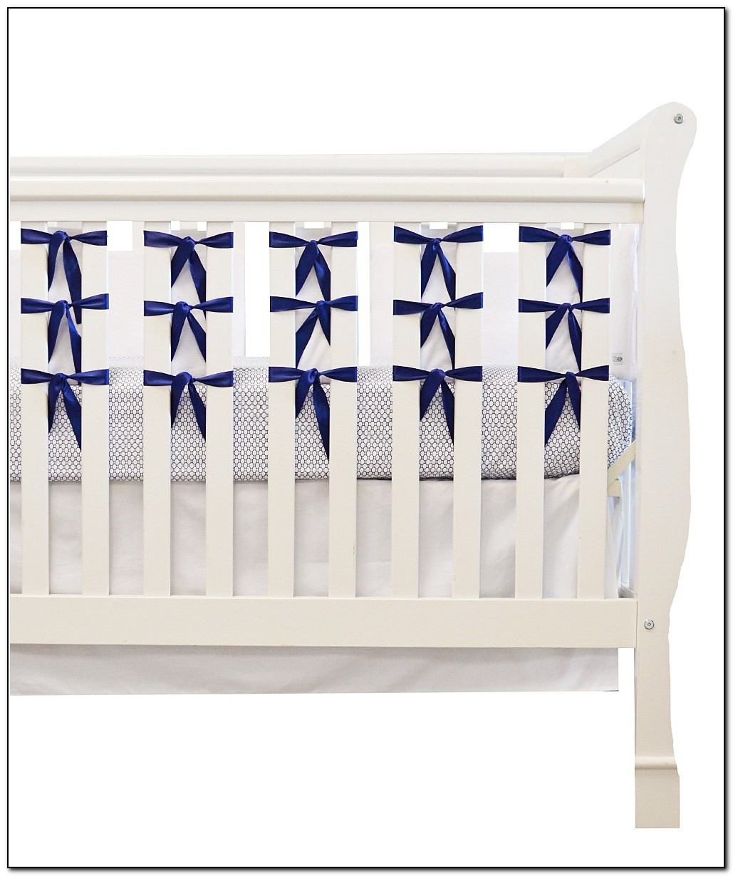 Navy Blue And White Crib Bedding