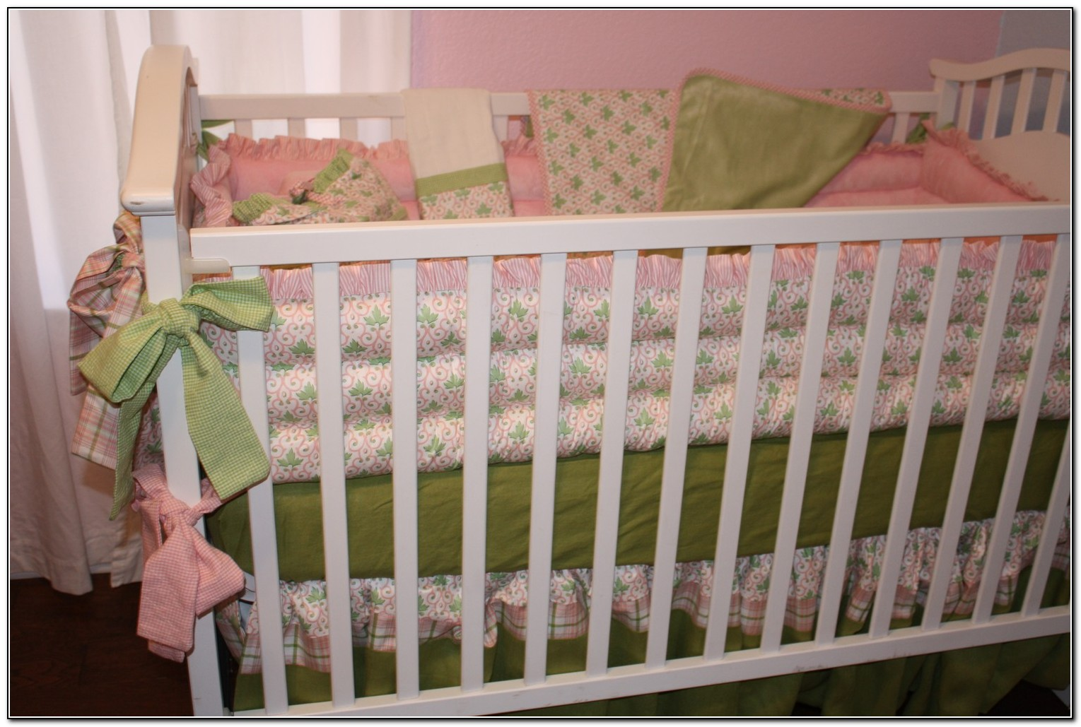 Pink And Mint Green Bedding