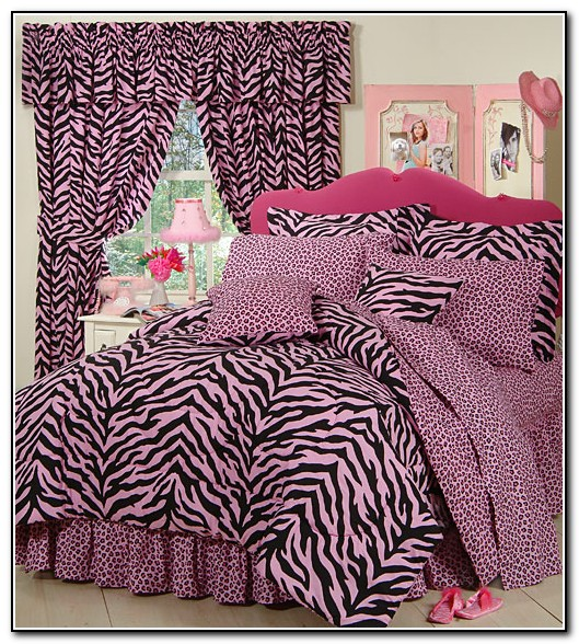 Pink Purple Zebra Bedding