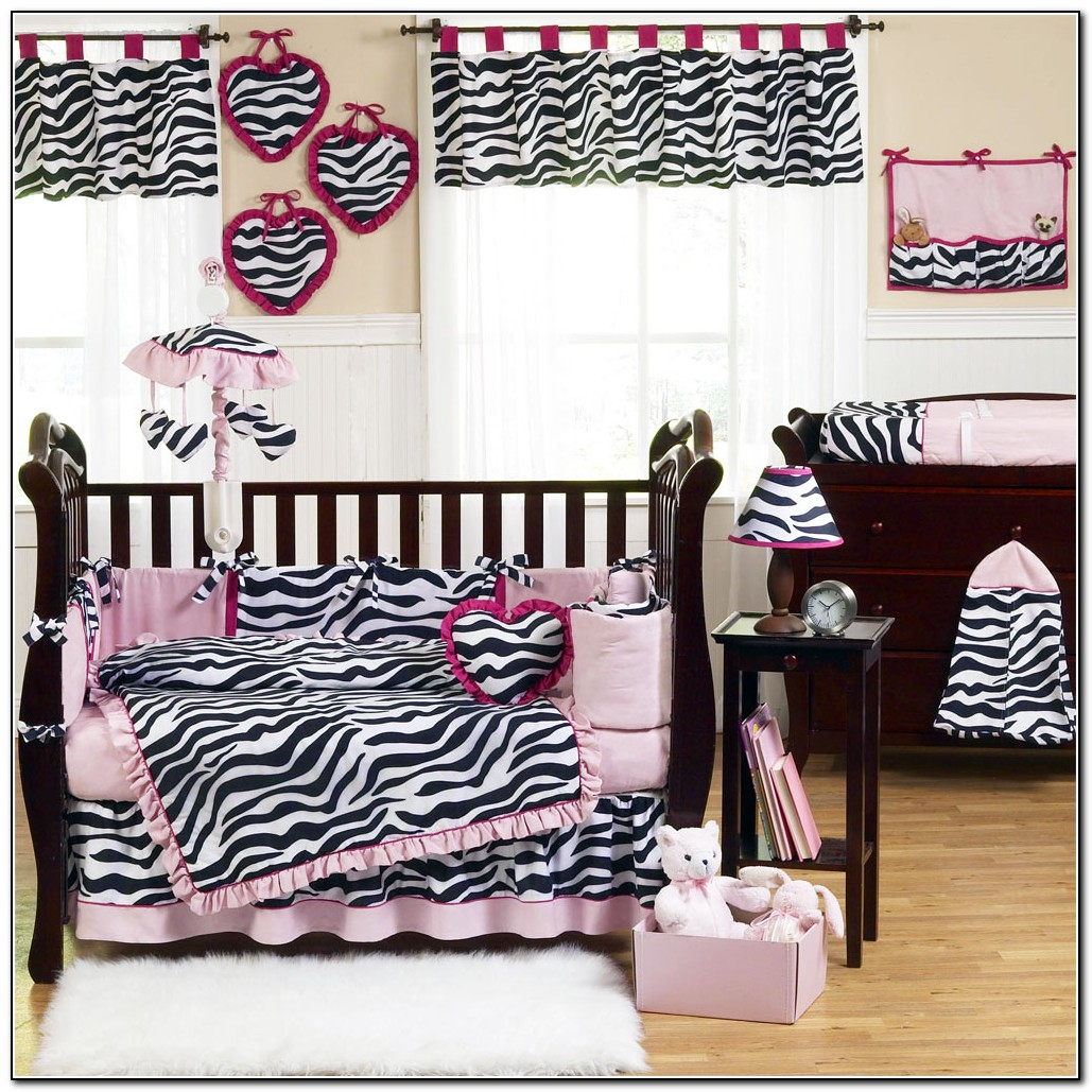 Pink Zebra Baby Bedding Set