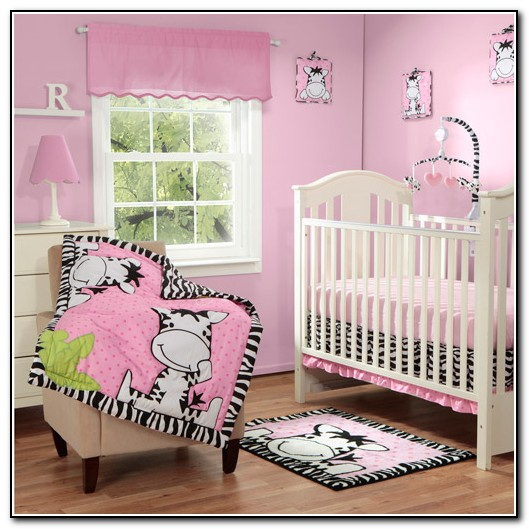 Pink Zebra Crib Bedding Sets