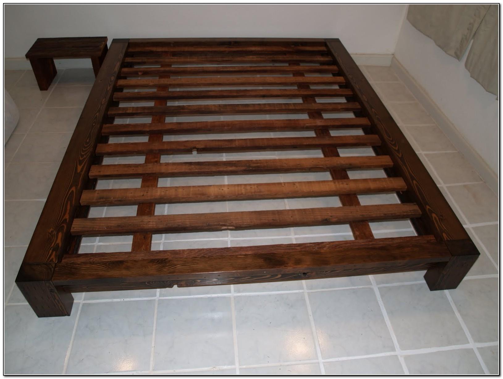 Platform Bed Frame Queen Plans