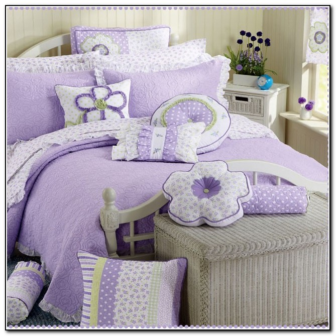 Purple Little Girl Bedding