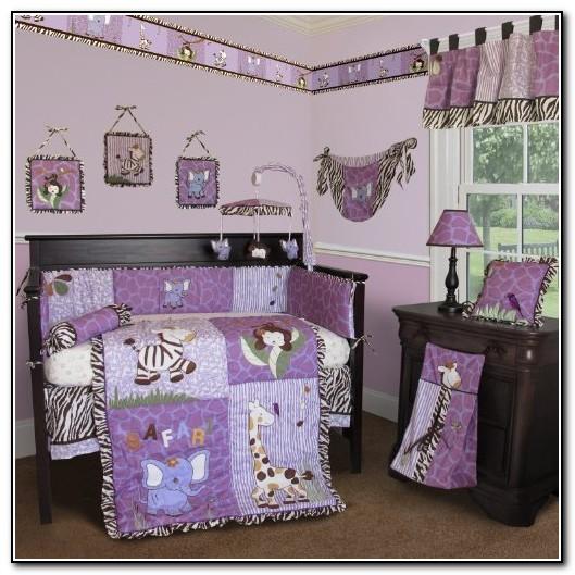 Purple Zebra Baby Bedding
